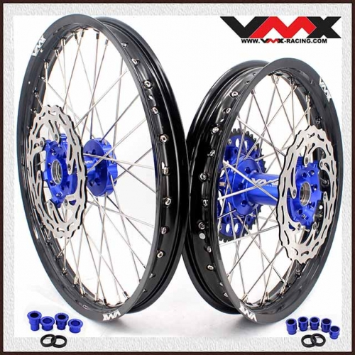 VMX 21/18 Enduro Wheel Set Fit YAMAHA YZ 250F  450F YZ 125 250 2020 Blue Hub With Disc