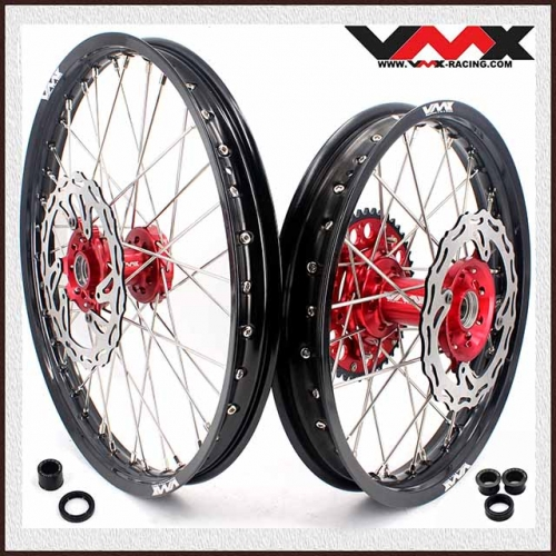 VMX 21/18 Complete Wheel Set Fit HONDA CRF250R 2004-2013 CRF450R 2002-2012 With Disc
