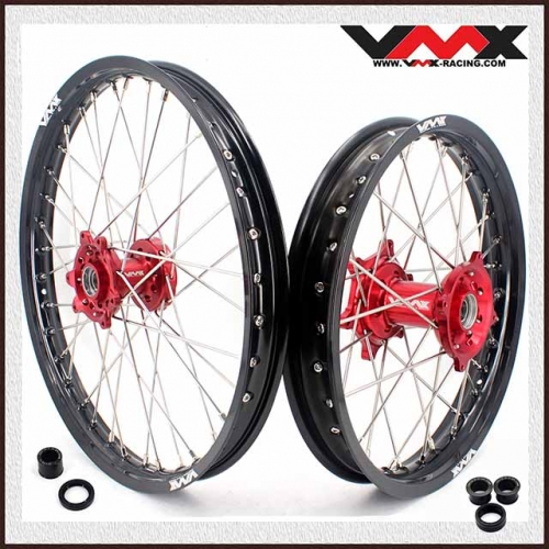 VMX 21/18 Enduro Wheel Set Fit HONDA CRF250R CRF450R 2002-2012 Red