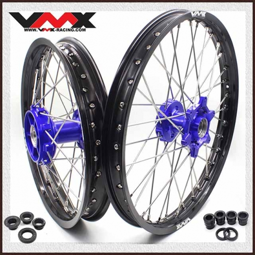 VMX CUSH DRIVE WHEELS 21/18 FOR HUSQVARNA FE 701 BLUE HUB