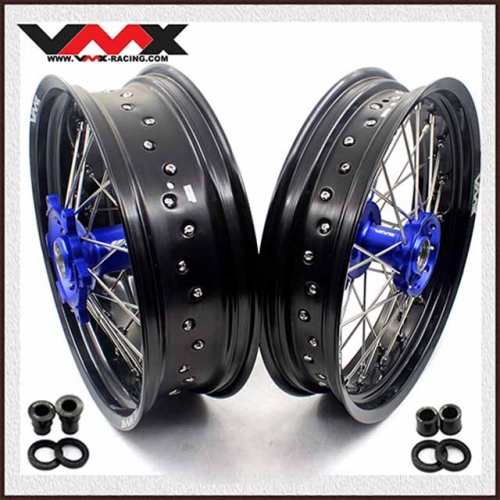 VMX 3.5/5.0 Motorcycle Supermoto Wheel Set Fit SHERCO  SER & SEF (All) Blue Hub