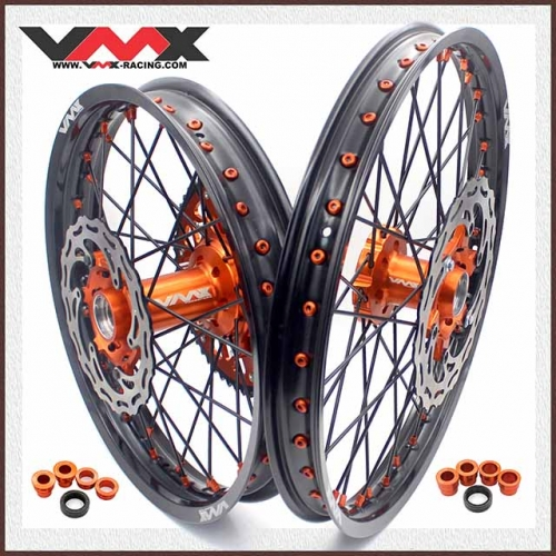 VMX COMPLETE ENDURO WHEELS 21/18 FIT KTM EXC EXC-R XCW-F 450 530 2020 ORANGE/BLACK