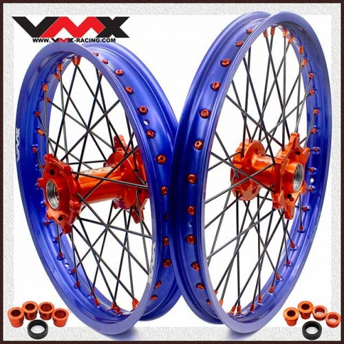 VMX OUTLET MX WHEELS 21/19 FIT KTM SX-F SX 125 200 250 BLUE RIMS