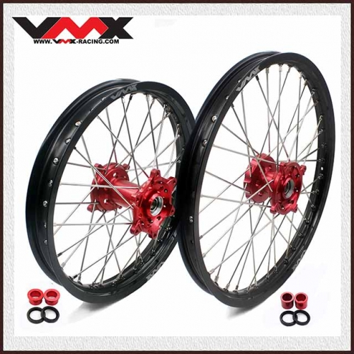 VMX 21/19 OUTLET WHEELS SET FOR SUZUKI RMZ250 RMZ450 RED
