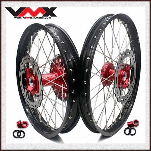 VMX COMPLETE OUTLET WHEELS SET 21/19 FOR SUZUKI RMZ250 RMZ450 RED