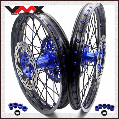 VMX 21/18 COMPLETE ENDURO WHEELS SET FOR YAMAHA YZ 125 250 250F 450F BLACK SPOKE