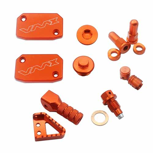 KTM CNC BLING KITS FOR SX125 EXC125 SX150 SXF250 8PCS ORANGE