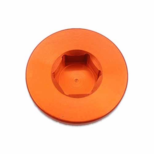 CNC ENGINE CRANKCASE NUT Compatible with KTM SXF 250 350 400 11-15 SMR ENDURO ORANGE