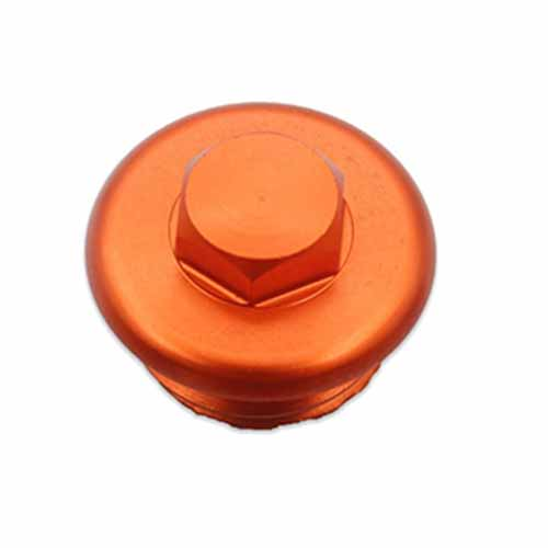 CNC ENGINE CRANKCASE DECORATION PLUG Compatible with KTM 125-530 /R ENDURO/R ORANGE