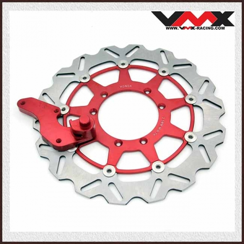 HONDA 320MM OVERSIZE  BRAKE DISC ROTORS WITH BRACKET ADAPTER