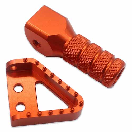 KTM CNC REAR BRAKE PEDAL STEP PLAET TIP GEAR SHIFT LEVER FOR 125 250 300 350 400 450 530  ORANGE