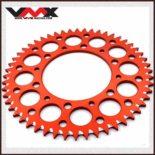 VMX CNC Aluminium Rear Sprocket Orange Compatible with KTM SX SXF EXC-F XCW-F  44T/50T/51T/52T