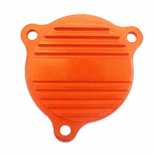 DECORATION PARTCNC OIL PUMP COVER FUEL Compatible with KTM EXC XCW 08-15 ORANGE