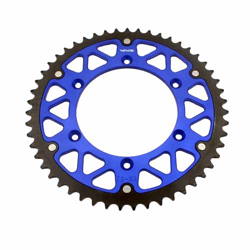 HYBRID SPROCKET FIT YAMAHA 50T YZ WR 125 250F 450F 400F 426F BLUE WITH SCREWS