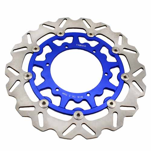YAMAHA 320MM OVERSIZE FRONT BRAKE DISC ROTORS BLUE YZF WRF