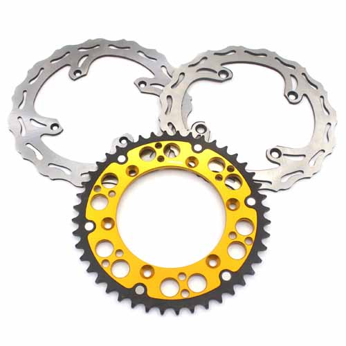 FRONT 250MM REAR 240MM DISC WITH REAR SPROCKET FIT SUZUKI GOLD RMZ