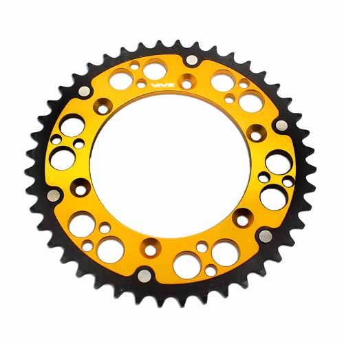 HYBRID SPROCKET 51T FIT SUZUKI RMZ 250 450 DRZ 400E/S/SM RM 125 GOLD WITH SCREWS