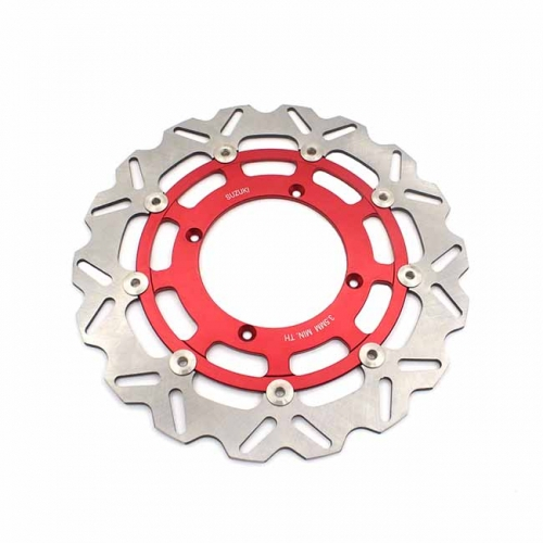 320MM RED OVERSIZE FLOATING DISC ROTORS FIT SUZUKI RMZ