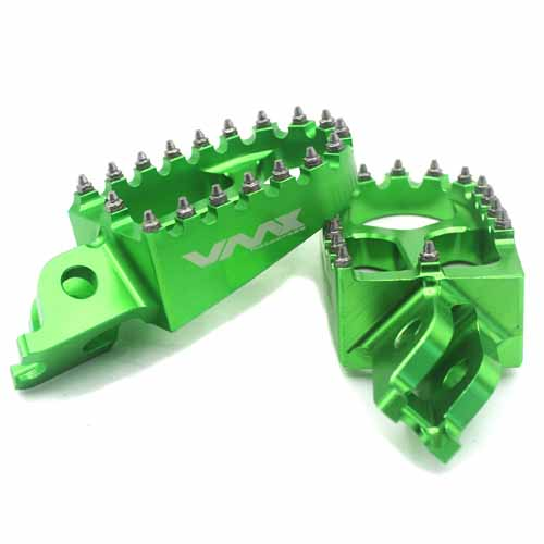 KAWASAKI  FOOTPEGS GREEN KX250F KX450F KLX450