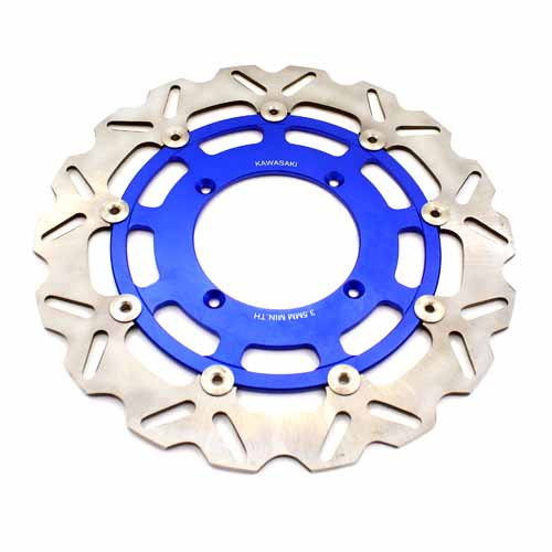 KAWASAKI 320MM BLUE OVERSIZE FLOATING DISC ROTORS FOR KX KXF