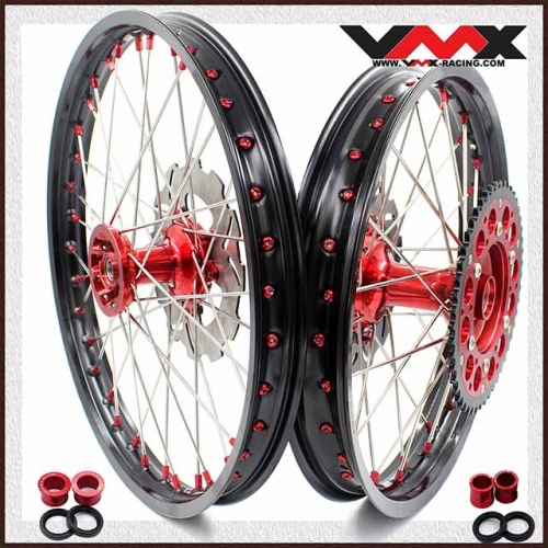 VMX 21/19  MX Casting Wheel Set Fit HONDA CRF250R CRF450R 2014-2020 Red