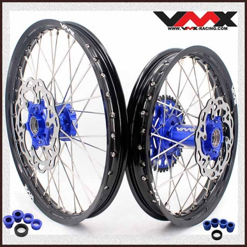 VMX 21/18 Enduro Wheels Compatible with KTM  EXC XCW-F Blue Hub Black Rim 2020 With Disc