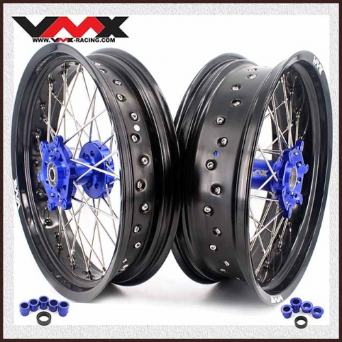 VMX 3.5/5.0 Supermoto Wheels Fit YAMAHA YZ250F/450F YZ125/250 Blue Hub