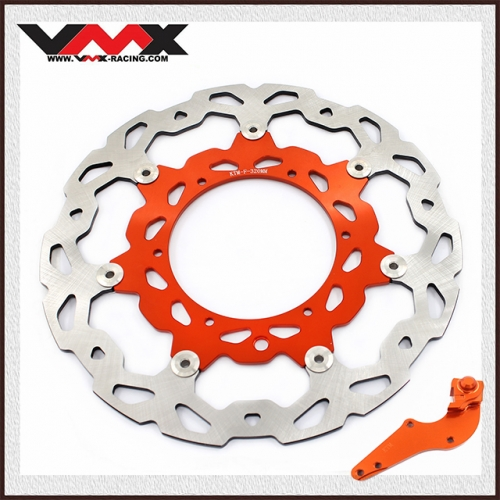 VMX 320mm Oversize Floating Brake Disc Rotors Adapter Bracket Fit KTM SX  EXC 2018