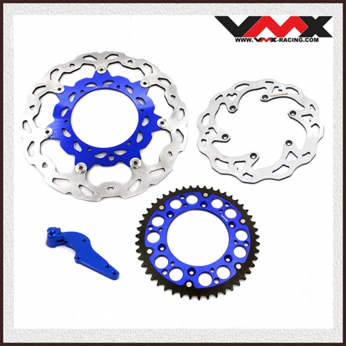 VMX Front and Rear Brake Disc Rotors With Adapter Sprocket Fit KTM SX EXC 2018 Blue