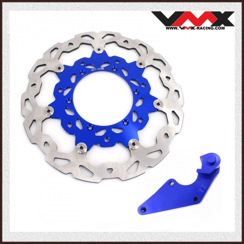 320MM OVERSIZE FRONT BRAKE DISC ROTORS ADAPTER FIT YAMAHA BLUE YZF