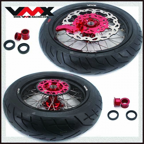 VMX 3.5/5.0 Supermoto Wheels Set With CST Tire Fit HONDA CRF250R CRF450R 2020