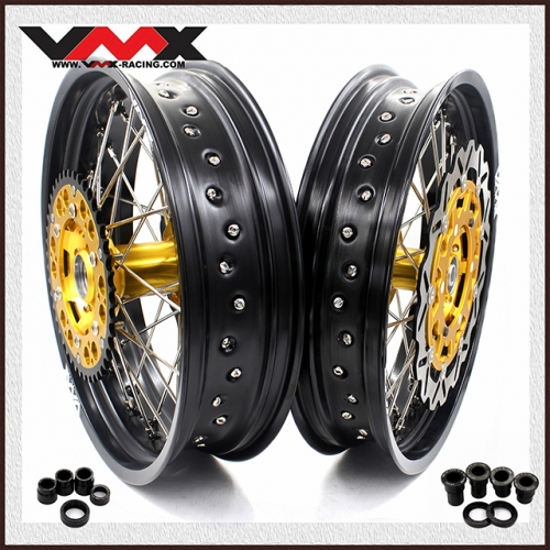 VMX 3.5/5.0 Supermoto Wheels Fit SUZUKI RM 125 250 1996-2008 with disc