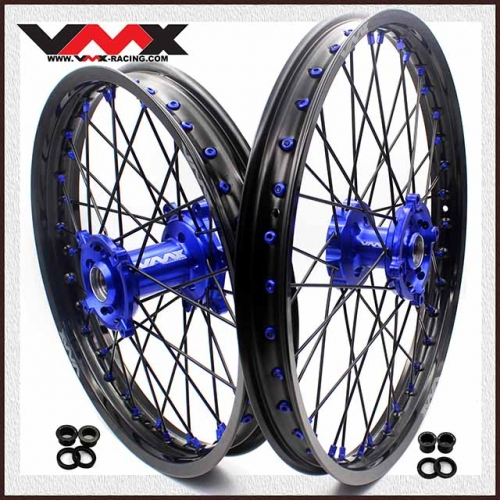 VMX 21/19 MX Wheel Fit KAWASAKI KX250F KX450F 2006-2020 Blue Hub/Nipple Black Rim/Spoke