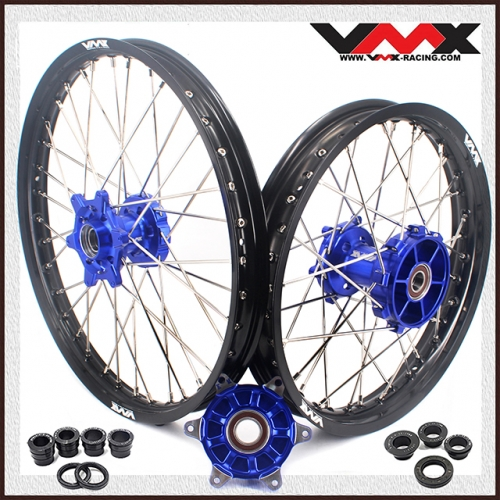 VMX 21/18 Cush Drive Enduro Wheel Set Compatible with KTM EXC XCW-F 125 450 Blue Hub