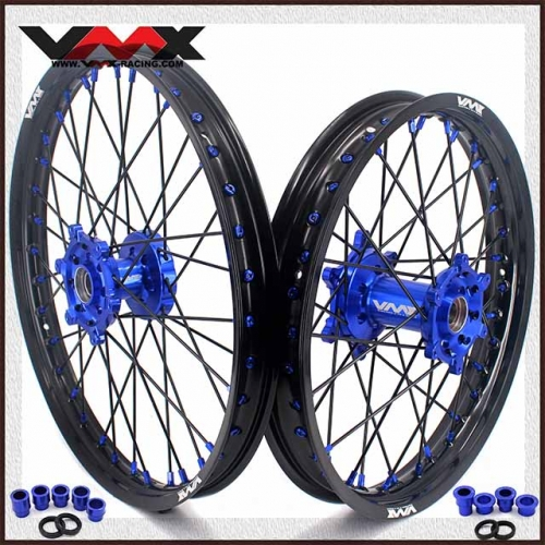 VMX 21/19 MX Wheel Rim Fit YAMAHA YZ250F YZ450F 2020 Blue Hub/Nipple Black Rim/Spoke