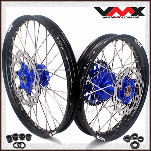 VMX 21/18 Cush Drive Enduro Wheels Disc Compatible with KTM SXF XCF 125 450 Blue Hub