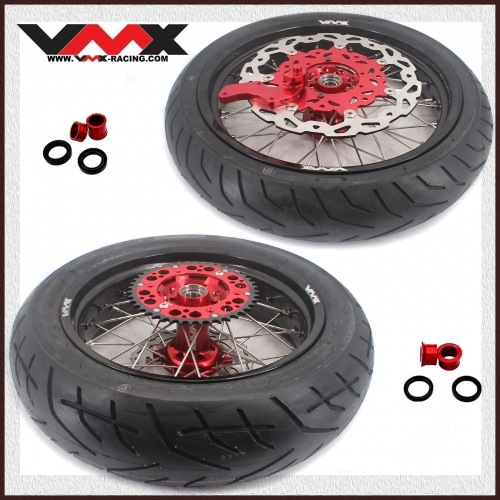 VMX 3.5/4.25 Motorcycle Supermoto Wheel Set With Tire Fit HONDA CRF250R CRF450R 2020