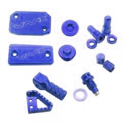 CNC BLUE BLING KITS 8PCS Compatible with KTM SX125 EXC125 SX150 SXF250