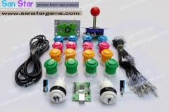 DIY Arcade Parts Bundles Kit With Joystick,Pushbutton,Microswitch,2 Player USB To Jamma Arcade Control Board