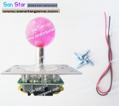 Illuminated Joystick With Crystal Babble Top Ball and Microswitch