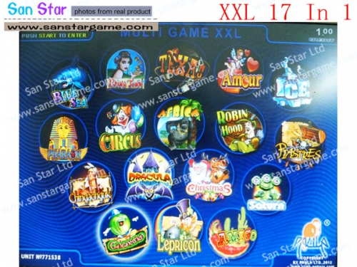 Casino Multi Game Pcb XXL 17 In 1 With 40-96% Percentage for Gambling Game Machine