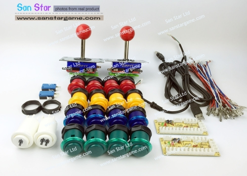 DIY Arcade parts Bundles With Arcade Controller+ Joystick+Push button+Microswitch for button