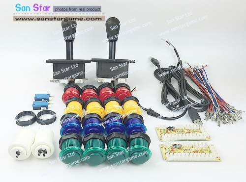DIY Arcade parts Bundles With Arcade Controller+Joystick+Push button+Microswitch