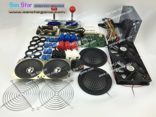 Classic 19 In 1 DIY Arcade Bundles Kits Parts With Power Supply Jamma Harness Joystick Push Button  Arcade Game Machine Parts