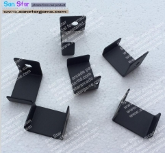 8 Pcs Of Black Color Glass Clip For Table Top Cocktail Machine