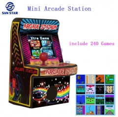 1 player mini arcade Station 2.5 inch with 240 Games