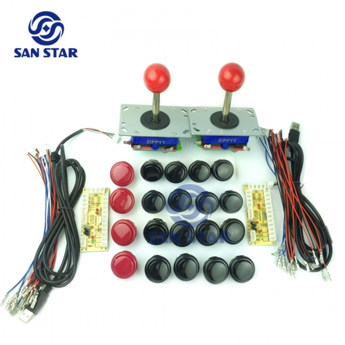 DIY Arcade Bundles Kits Parts With Zero Delay USB to Joystick Push Button and Joystick Arcade Parts