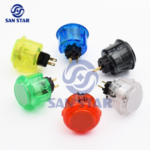 Round 33mm Transparent Arcade Button Similar With Sanwa OBSC30