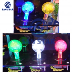 Taiwan Brand Crystal Bubble Ball Top LED Arcade Joystick  Illuminated arcade Joystick