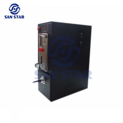 LED display 6 Coin Groups Multi Coin Acceptor Box With Time Control